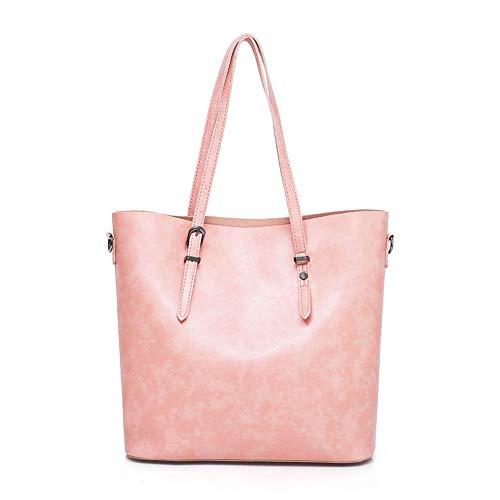 3pcs Cuero Pink Del Mujeres Hombro Los Sintético Bolsos color Mano Las Chengzuoqing La Manera Totalizador Personalidad Mujer Bolso Fijado De Red Cosméticos Bolsa XqxnaIPwOB