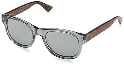 Gucci Fashion Wayfarer Sunglasses, GG0003S, One Size
