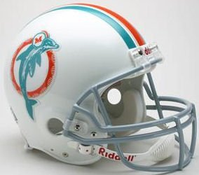 (Riddell Miami Dolphins 1973-1979 Authentic Throwback Helmet)
