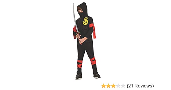 Haunted House Childs Black Ninja Costume, Large