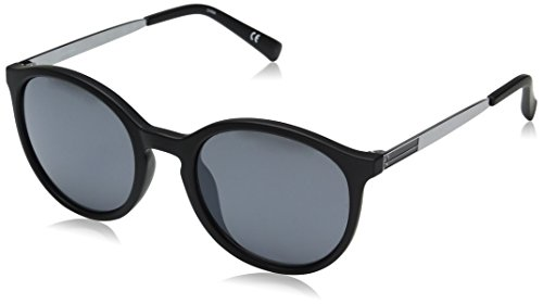 Calvin Klein Men's R726S Round Sunglasses, Matte Black, 49 - Calvin Sunglasses Men Klein