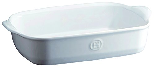 Emile Henry 119650 France Ovenware Ultime Rectangular Baking Dish, 11.4 x 7.5, Flour White