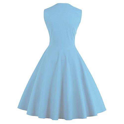 Pinkyee - Vestido - trapecio - para mujer Azul
