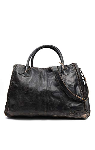 Bed|Stu Women's Rockaway Leather Bag (Black - Lux Black Bag