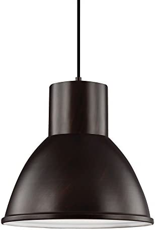 Sea Gull Lighting 6517401-710 Division Street One-Light Pendant Hanging Modern Light Fixture