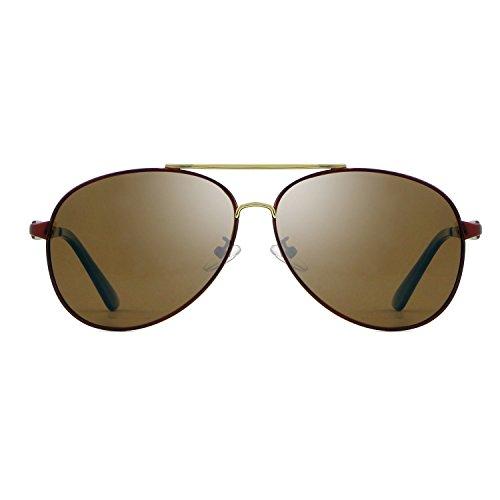 Vintage Gafas Accesorios de aviación Retro para Hombres diseñador Sol JCH Tonos polarizadas de de Sol Brown Gafas Gafas Marca 81xfdCfq