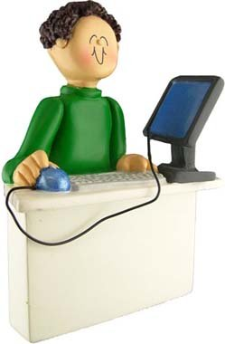 Ornament Central Male Computer Figurine