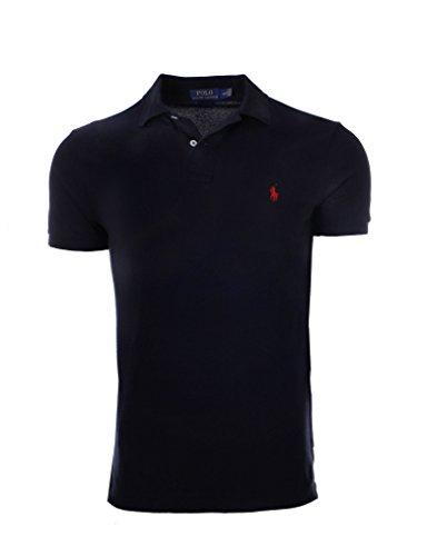 Polo Ralph Lauren Men Classic Fit Pony Logo Mesh T-Shirt (X-Large, Newport Navy)