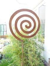 Jardín Conector Bancal Conector bolas de cristal 120cm Jardín oxidado metal Parrilla de hierro