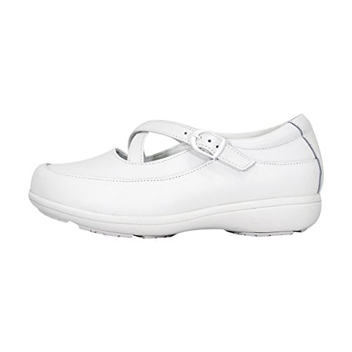24 Hour Comfort  Susan Women Wide Width Criss-Cross Straps Casual Step-in Shoes White 10.5 by 24 Hour Comfort (Image #1)