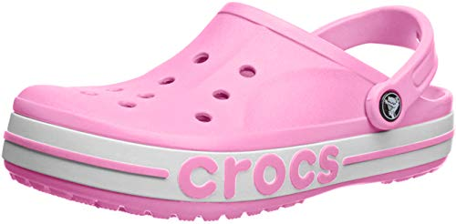 Crocs Bayaband Clog, Pink Lemonade/White, 13 US Women / 11 US Men