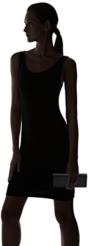 COCCINELLE C2 Yw1 Metallic Saffiano 114501, Cartera de Mano para Mujer, 0.1x9x20 cm (W x H x L) Negro (Black)