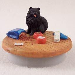 Black Pomeranian Candle Topper Tiny One \