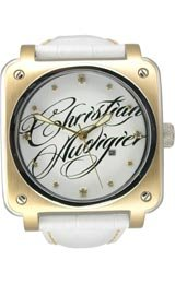 Christian Audigier Unisex FOR-204 Fortress Wild Twins Ion-Plating Gold Watch