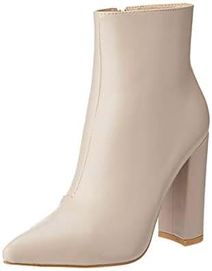BILLINI Women's Mazara High Heel Boot, Porcelain, 5 AU