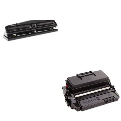 KITRIC407169UNV74323 - Value Kit - Ricoh 402877 Toner/Drum Cartridge (RIC407169) and Universal 12-Sheet Deluxe Two- and Three-Hole Adjustable Punch (UNV74323)