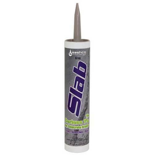 (Sashco 16210 Slab Concrete Crack Repair Sealant, 10.5 oz Cartridge, Gray (Pack of)