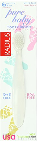 Radius Pure Baby Toothbrush, Ultra Soft (Pack of 24)