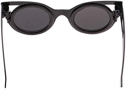 SM SunniMix ドールメガネ 眼鏡 サングラス 12インチブライスドール用 銅+プラスチック 全5色 - ブラックB