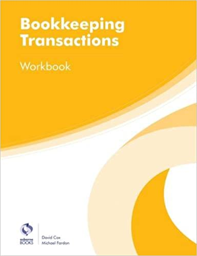 Bookkeeping Transactions Workbook (AAT Foundation Certificate in ...