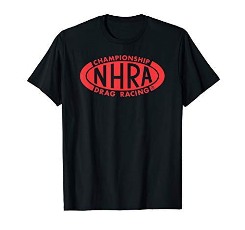 NHRA Championship Drag Racing red oval logo t-shirt (Nhra Clothing)