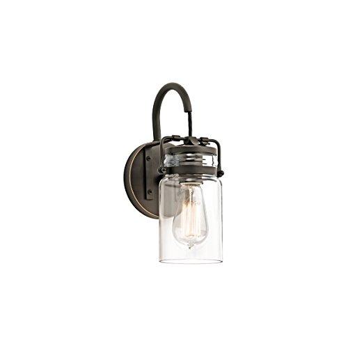 Bronze Modern 1 Light (Kichler 45576OZ Brinley 1-Light 11.5