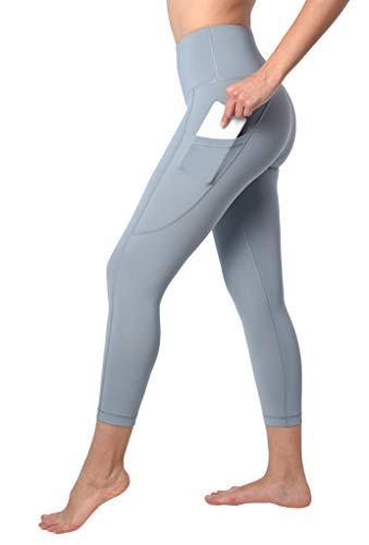 90 Degree By Reflex Squat Proof Side Phone Pocket Yoga Capris - High Waist Cropped Leggings - Ocean Haze - Small (Legs Carrie)