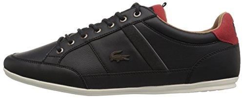 Lacoste Men's Chaymon 118 2 Sneaker, Black/Red, 11 M US