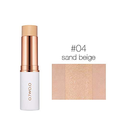 Velvet Matte Foundation Stick 6 Colors Makeup Concealer Lasting Waterproof Cover Blemish Cosmetic Liquid PaperMake up 04 sand beige