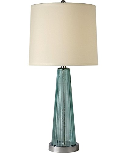 Trend Lighting BT5763 Chiara Table Lamp, Seafoam/Polished Chrome (Trend Glass Table Lamp)