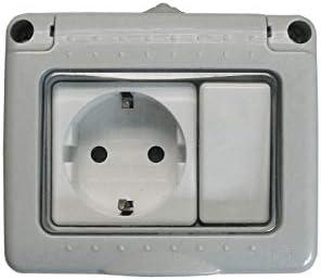 Bf bf-19 - Interruptor+base enchufe schuko gris bolsa: Amazon.es ...