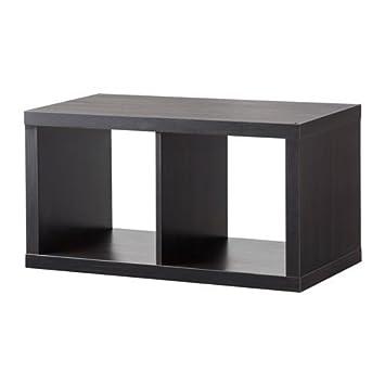 Ikea Kallax Regal In Schwarzbraun 77x42cm Amazon De Kuche