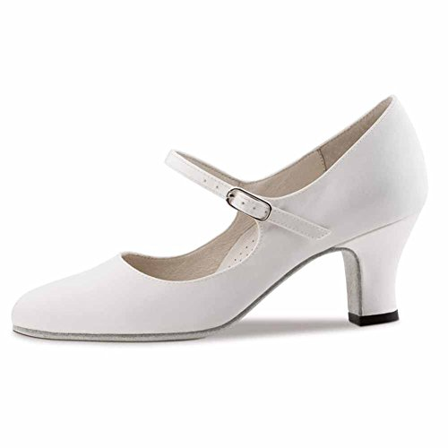 White For Shoes Street Leather use with 6 White Dance Kern Ladies Werner Satin Sole Ashley 6zqatPn7