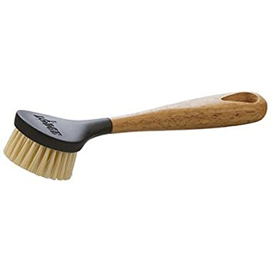 Lodge 10 Inch Scrub Brush. Cast Iron Scrub Brush with Ergonomic Design and Dense Bristles.