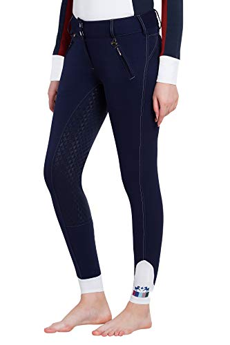 - Equine Couture Beatta Full Seat Breech 30 Navy