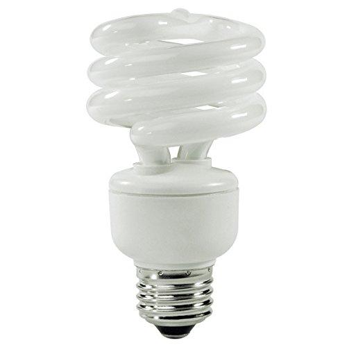 (12-Pack) TCP 80101450 14-Watt 5000K Mini SpringLight Spiral Compact Fluorescent Lamp, 60W Equivalent ()