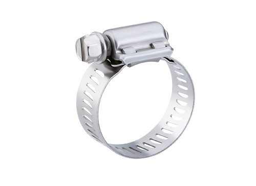 "Breeze Power-Seal Stainless Steel Hose Clamp, Worm-Drive, SAE Size 36, 1-13/16"" to 2-3/4"" Diameter Range, 1/2"" Band Width (Pack of 10)"