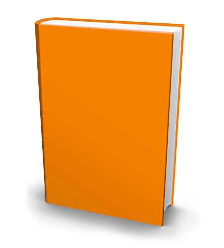 The Original Book Sox: Stretchable Jumbo Fabric Book Cover - Solid Orange