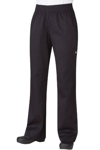 Chef Works Women's Essential Baggy Chef Pant, Black, X-Large 19163