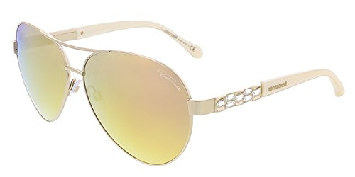 Roberto Cavalli RC905S/S 28G MERGA Shiny Rose Gold Aviator - Sunglasses Cavalli Aviator Roberto