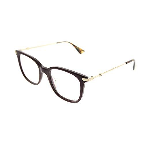 Gucci Women's Eyeglasses GG0110O GG/0110/O 006 Burgundy/Gold Optical Frame 49mm (Gucci Brille Frames Für Frauen)
