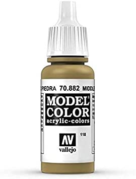 Middlestone 70.882 War World Gaming Vallejo Model Color Yellow Wargame Miniature Figure Painting Assortment Modelling Wargaming Hobby Tabletop Model Paint Collection