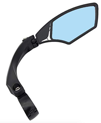 Hafny New Handlebar Bike Mirror, HD,Blast-Resistant, Glass Lens, HF-MR095 (Anti-Glare Right)