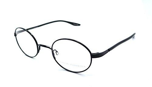 Barton Perreira RX Eyeglasses Frames Thoreau 45x22 Black Satin Titanium - Titanium Perreira Barton