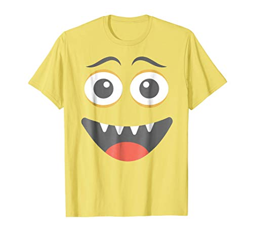 Halloween Happy Monster Emoticon Smile Face Costume -