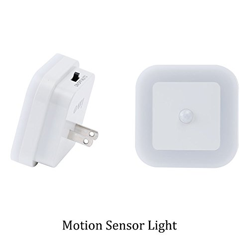 Pack Of 2  Plug In Led Motion Sensor Light  Motion Activated Night Light   Perfect For Stairway  Bathroom And Hallway  White Glow