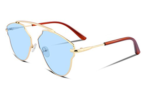 FEISEDY Cat Eye Ultra Light Gold Rose Metal Frame Women Real Pop Sunglasses - Shop Real Is Sunglasses