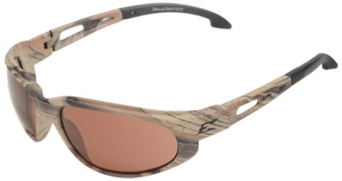 Edge Eyewear TSM215CF Dakura Polarized Safety Glasses, Camouflage with Copper ''Driving'' Lens by Edge Eyewear