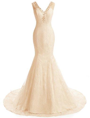 Ysmo - Vestido - para mujer champán