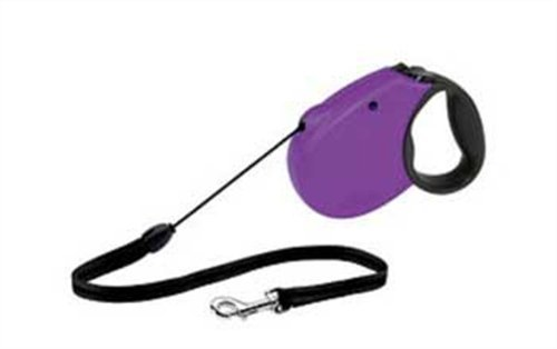 Flexi Freedom Soft Grip Retractable Cord Dog Leash, Small, 16-Feet Long, Supports up to 26-Pound, Purple/Black, My Pet Supplies